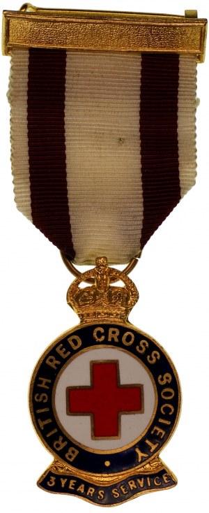 Odznaka - Brytyjski Czerwony Krzyż - 3 lata służby - numerowana 49117