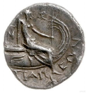tetrobol III-II w pne; Aw: Głowa nimfy Histiai w prawo;...