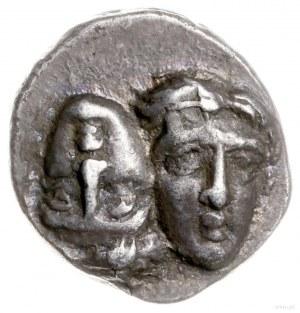 didrachma 400-350 pne; Aw: Dwie głowy młodzieńców obróc...