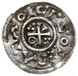 denar 1009-1024, mincerz Id; Popiersie króla w lewo / K...