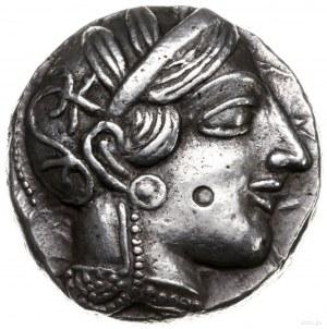 tetradrachma ok. 454-404 pne; Aw: Głowa Ateny w hełmie ...