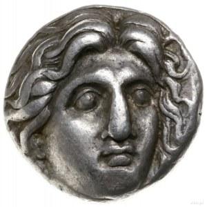 didrachma ok. 305-275 pne; Aw: Głowa Heliosa trzy-czwar...