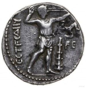stater III-IV w. pne; Aw: Dwaj zapaśnicy w uścisku, mię...