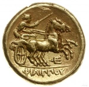 stater ok. 340-328, Amphipolis; Aw: Głowa Apollina w pr...