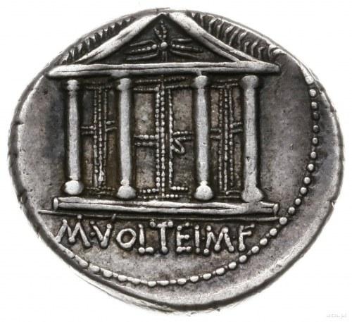 denar 78 pne, Rzym; Aw: Głowa Jowisza w diademie w praw...