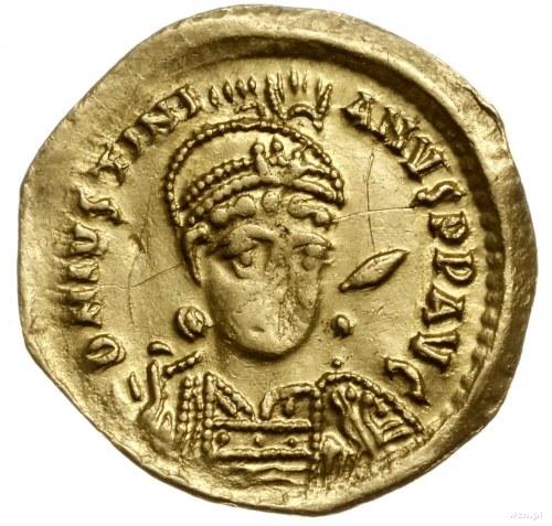 solidus 522-527, Konstantynopol; Aw: Popiersie cesarza ...