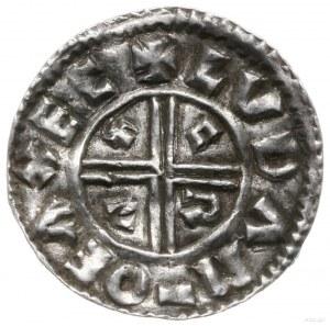 denar typu crux, 991-997, mennica Exeter, mincerz Luda;...