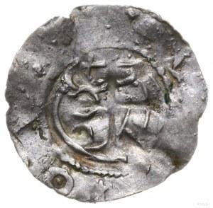 denar hrabiów flandryjskich, 1. ćwierć XI w., Aw: Popie...