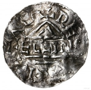 denar 948-955, mincerz Aljan; Krzyż z trzema kulkami w ...