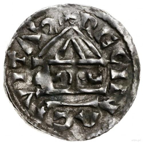 denar 985-995, mincerz Sigu; Krzyż z kółkiem i dwiema k...