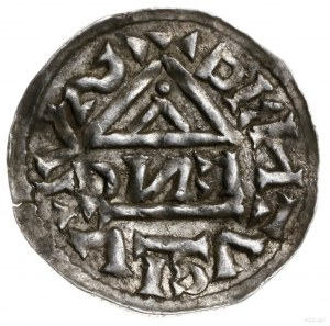 denar 995-1002, mincerz Anti; Krzyż z kółkiem, dwiema k...