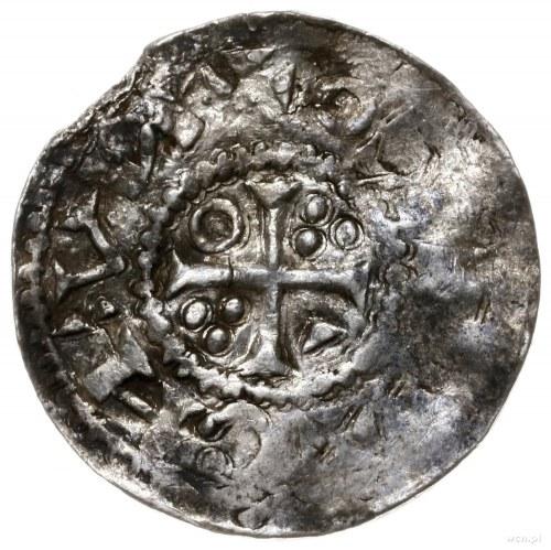 naśladownictwo denara bawarskiego króla Henryka II; Aw:...