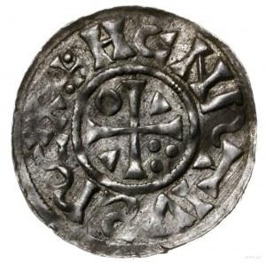 denar 1002-1009, mincerz Ag; Krzyż z kółkiem, dwoma tró...