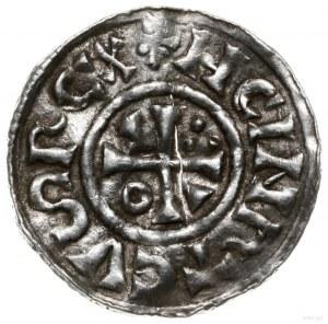 denar 1002-1009, mincerz Haisti; Krzyż z kółkiem, dwoma...