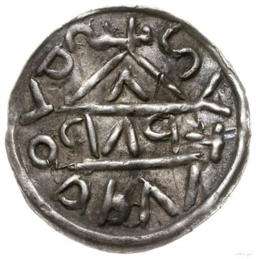 denar 1018-1026, mincerz Bab; Napis HEINRICVS DVX wkomp...