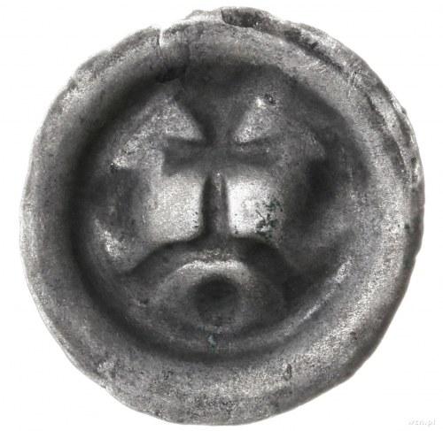 Zakon Krzyżacki; brakteat, ok. 1277/8-1287/8; Krzyż na ...