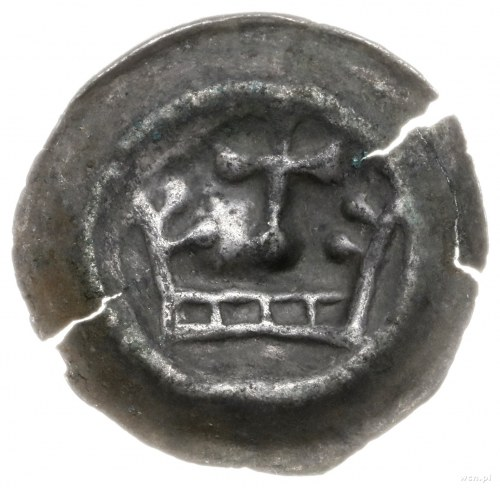 Zakon Krzyżacki; brakteat, ok. 1287/8-1297/8; Korona z ...