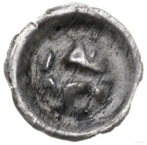 Polska; brakteat, XIII/XIV w.; Lew? kroczący w prawo, z...