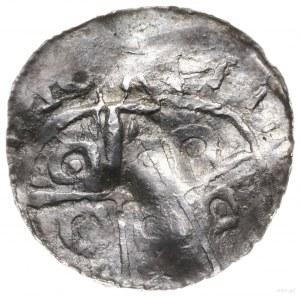denar typu princes polonie, po 1000 r.; Aw: Ptak zwróco...