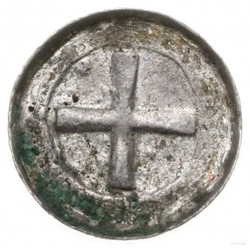 denar krzyżowy; Aw: Krzyż prosty, w polach kulki, Rw: K...