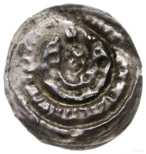 brakteat, początek XIII w.; Głowa w koronie na wprost, ...