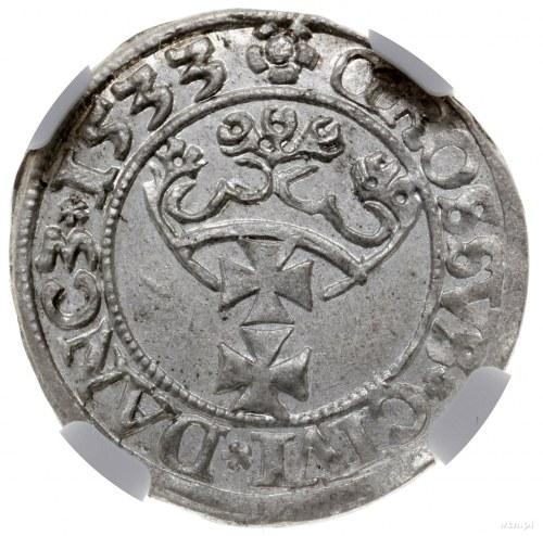 FALS - grosz 1533, Gdańsk; z końcówką PR na awersie