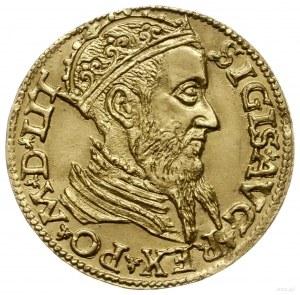 dukat 1565, Wilno; Aw: Głowa króla w prawo z koroną zam...