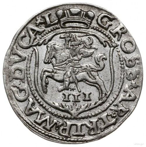 trojak 1562, Wilno; moneta mniejszej średnicy z monogra...