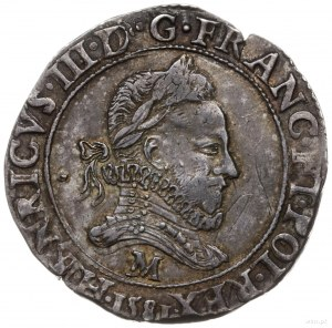 frank 1581 M, Tuluza; wariant z datą wybitą w otoku; Du...