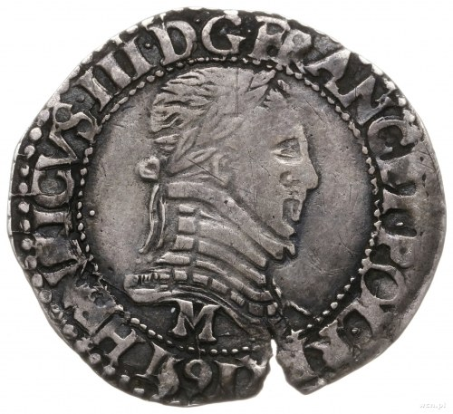 1/4 franka 1591 M, Tuluza; Duplessy 1161, Kop. 10296 (R...