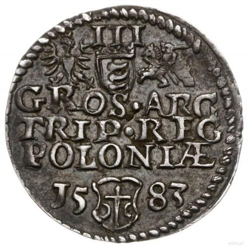 trojak 1583, Olkusz; wariant bez inicjałów podskarbiego...