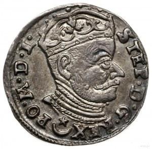 trojak 1582, Wilno; pod popiersiem Leliwa, na rewersie ...