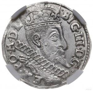 trojak 1598, Poznań; na rewersie I-F H-R i skrócona dat...