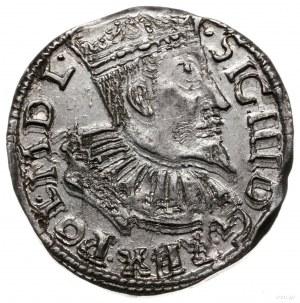 trojak 1596, Bydgoszcz; na rewersie litery I - F, S - C...
