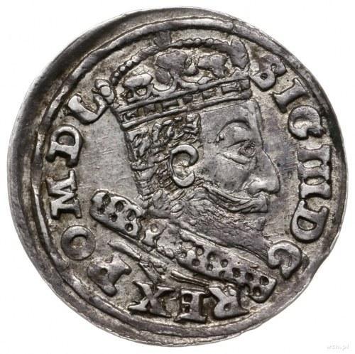 trojak 1607, Kraków; z końcówką PO M D L, na rewersie h...