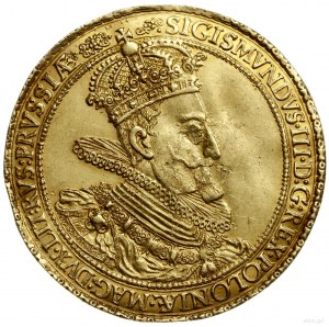 donatywa o wadze 5 dukatów, 1614, Gdańsk; Aw: Popiersie...