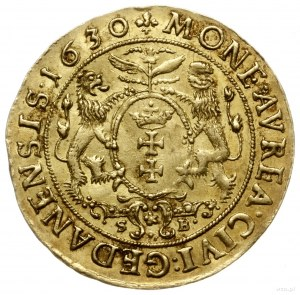 dukat 1630, Gdańsk; Aw: Popiersie króla w prawo i napis...