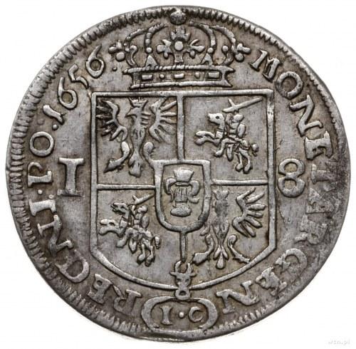 ort 1656 IC, Kraków; na awersie CASIMI, I-T pod popiers...