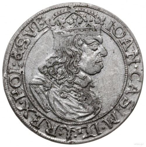 szóstak 1660 TLB, Kraków; herb Ślepowron bez obwódki, o...
