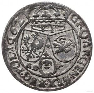 szóstak 1662 GBA, Lwów; na awersie herb Ślepowron bez t...