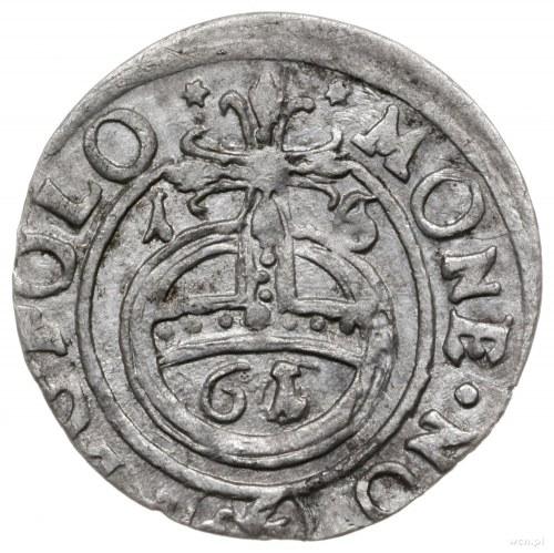 półtorak 1661, Lwów; Aw: Tarcza herbowa, u dołu litery ...