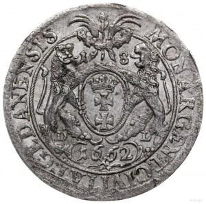ort 1662, Gdańsk; bardzo rzadki wariant z herbem Lewek ...