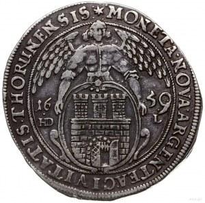 talar 1659, Toruń; Aw: Popiersie króla w prawo i napis ...