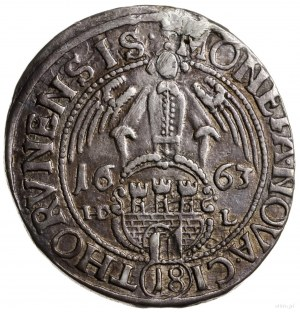 ort 1663, Toruń; odmiana z ośmiolistną zapinką przy ręk...