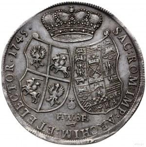 talar 1745, Drezno; Aw: Popiersie w prawo i napis wokoł...
