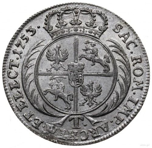 tymf 1753, Lipsk; owalny przekrój naramiennika zbroi, k...