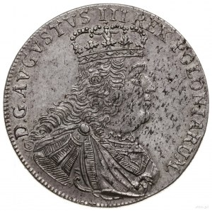 tymf 1753, Lipsk; odmiana z popiersiem z literką S na r...