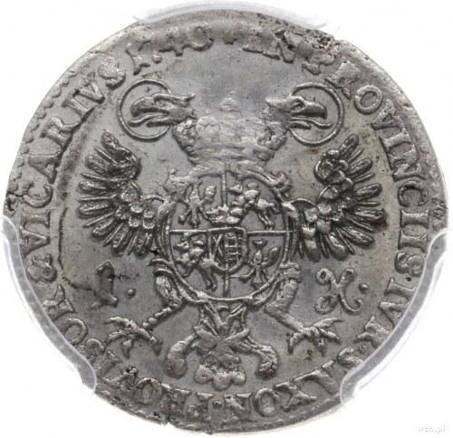 grosz wikariacki 1740, Drezno; Kahnt 633, Kop. 11525 (R...