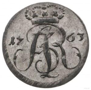 trojak 1763, Gdańsk; napis R E Œ pod herbem Gdańska; CN...