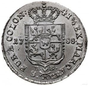 dwuzłotówka 1788, Warszawa; EB na rewersie; Plage 340; ...